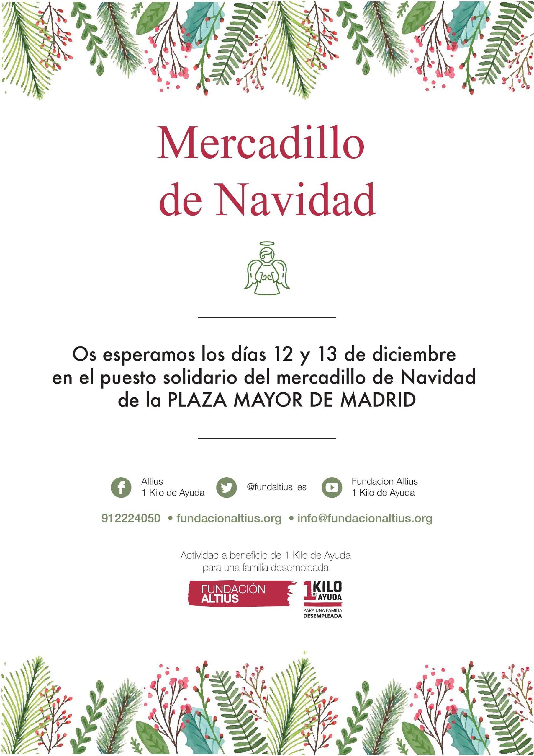 Altius estará presente en el Mercadillo Navideño de la Plaza Mayor de Madrid